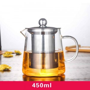 Transparent Glass Tea Maker in 15.75oz/450ml for Loose Tea - 30/Lot (10 x 8.5 cm/3.75 x 3.25 inches)