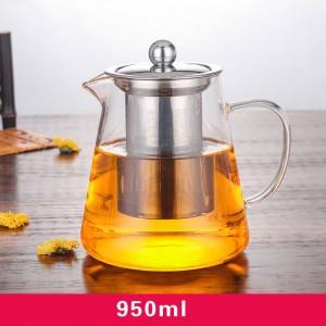 Transparent Glass Simple Brew Loose Leaf Tea Maker in 33oz/950ml - 20/Lot (15 x 17.8 cm/ 5.75 x 7 inches)