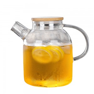 Transparent Glass Teapot in 63oz/1800ml for Loose Tea - 15/Lot (21.5 x 18.5 cm/8.25 x 7.25 inches)