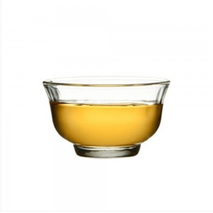 Insulated Glass Transparent Teacup in 1.2oz/35ml - 100/Lot (5.5 x 3.2 cm/2 x 1.25 Inches)