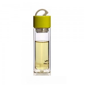 Travel-Friendly Polypropylene Tea Bottle Infuser with 10.5oz/300ml in Yellow - 25/Lot (19.2 x 6.4cm/7.5 x 2.5 Inches)