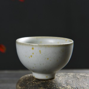 Chinese White Ceramic Teacup in 1.75oz/50ml - 60/Lot (6 x 4.5cm/2.25 x 1.75 Inches)