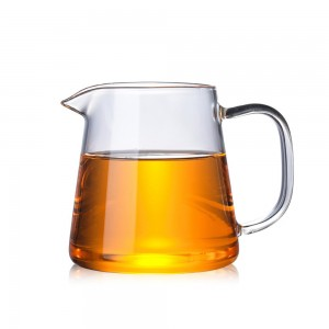 Transparent Glass + Stainless Steel Tea Pitcher in 19.25oz/550ml - 40/Lot (10 x 10 cm/3.75 x 3.75 inches)