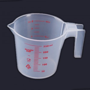 Set of 1 Piece 250 ML Translucent Kitchen Measuring Cup 100 Cups/Lot