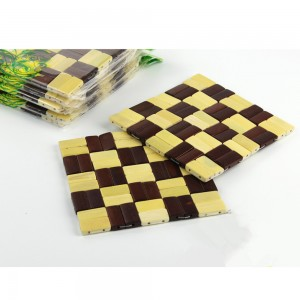 Set of 1 Piece Checker Bamboo Non-Slip Trivets For Hot Dishes 100 Trivets/Lot