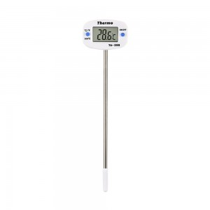 Set of 1 Piece White Digital Instant Read Meat Probe Thermometers 4.4x3x3+13.5 cm/ 1.5x1x1+5.25 inches 100 Thermometers/Lot