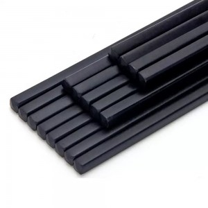 Set of 2 Black Reusable Resin Chopsticks 400 Chopsticks/Lot
