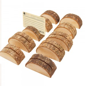 Brown Rustic Crescent Place Card Holders 200 pieces/Lot