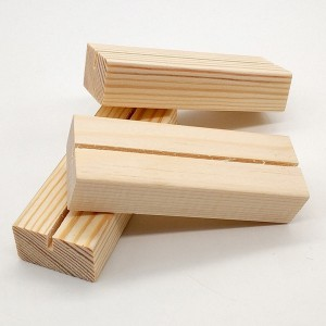 Wood Slim Rectangular Place Card Holders 100 pieces/Lot