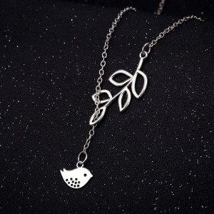 """Silver Baby Chick Lariat Necklace 19.5"""" - 300/Lot"""