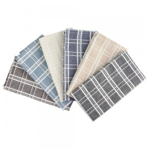 100 Pieces/Lot Colorful Check Pattern Disposable 20%linen 40%cotton 40%polyester Napkins for Parties