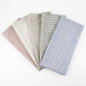 Disposable 50%cotton 50%polyester Stripe Pattern Colorful Napkins for Parties 80 Pieces/Lot