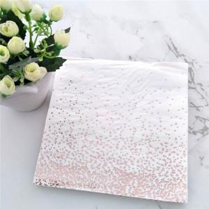 White Polka Dot Disposable Paper Napkins for Celebrations 80 Packs/Lot