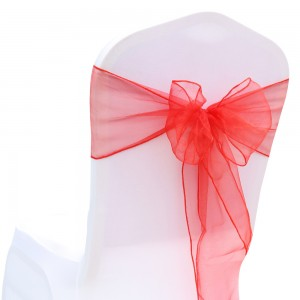 600 Pieces/Lot Flowing Organza Red Chair Bows for Parties