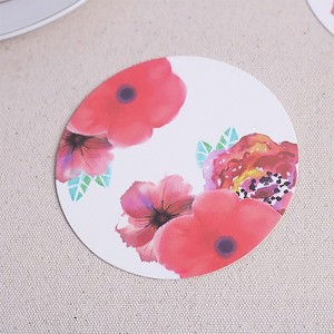 White Decorative Floral Party Drink Coasters 100 Packs/Lot(12pieces/pack)