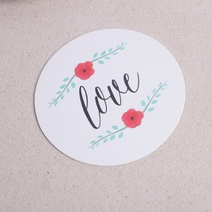 "White Decorative ""LOVE"" Party Drink Coasters 100 Packs/Lot(12pieces/pack)"