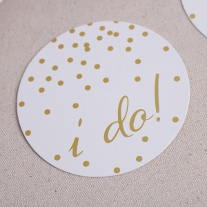 "White Paper Engagement ""I Do!"" Party Drink Coasters 100 Packs/Lot(12pieces/pack)"