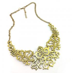 "Gold Nature Vine Collar Necklace 20.25"" - 100/Lot"