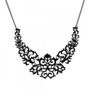 "Nature Vine Collar Necklace in Black 20.25"" - 100/Lot"