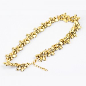 """Gold Bridal Floral Collar Necklace 17.5"""" - 100/Lot"""