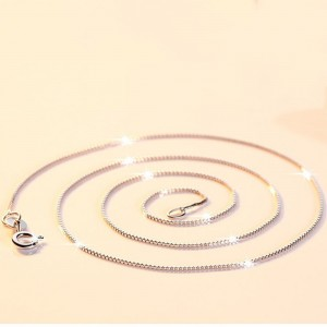 """Silver Slim Snake Chain Necklace 15.5"""" - 100/Lot"""