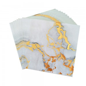 80 Packs/Lot Gold Marble Gilding Disposable Paper Napkins for Parties