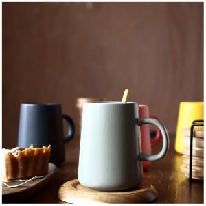 "Insulated Colorful Ceramic Tea Mug with Handle - 48/Lot (9cm x 11.7cm/3.5"" x 4.5"")"