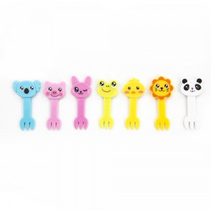 Colorful Cute Animal Forks Food Picks 100Packs/Lot (6pieces/pack)