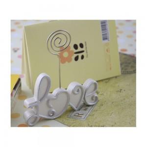 """White Romantic Cursive """"LOVE"""" Letters Place Card Holders 100 Pieces/Lot"""