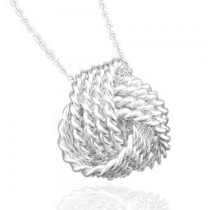 "Silver Mesh Ball Knot Locket Necklace 17.5"" - 100/Lot"