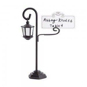 Black Alloy Classy Street Lamp Place Card Holders 100 Pieces/Lot