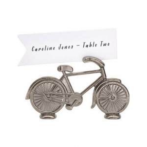 Silver Alloy Vintage Bicycle Place Card Holders 200 Pieces/Lot