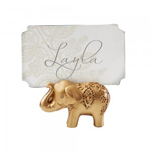 Gold Resin Majestic Elephant Place Card Holders 100 Pieces/Lot