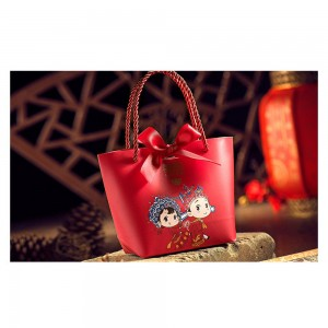 Chinese Wedding Bride and Groom Double Happiness Gift Bag (7.5 inches x 2.5 inches x 5.25 inches) [200 Bags/Lot]