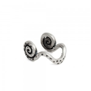 """Silver Clip-On Octopus Leg Nose Jewelry 0.25"""" x 0.075"""" - 70/lot"""