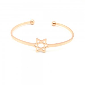 "Gold Jerusalem Star Cuff Bracelet 2.25"" - 400/Lot"