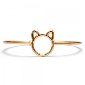 "Gold Cat Cuff Bracelet 2.25"" - 100/Lot"