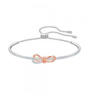 "Silver Bowtie Slider Bracelet 2"" - 20/Lot"