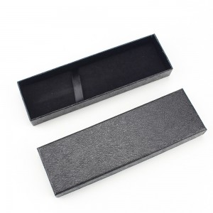 Long Black Box with Lid for Gift Packaging (6.75 inches x 2 inches x 0.75 inches) [100 Boxes/Lot]