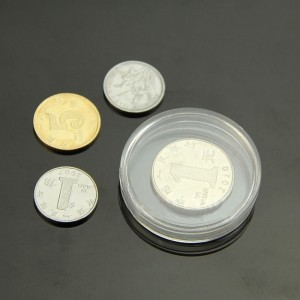 Single Piece Clear Coin Display Case (1 Inch Diameter) [1500 Containers/Lot]