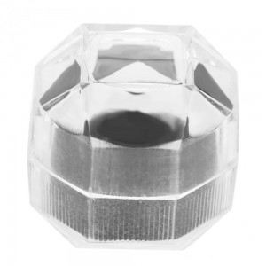 Clear Ring Box with Protective Padding for Rings and Earrings (1.5 inches x 1.5 inches x 1.5 inches) [700 Containers/Lot]