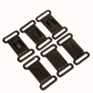 Black Closure Hook and Clasp Buckle Replacement Clip  (2190 Bra Clips/Lot)