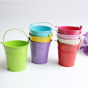 Mixed Color Mini Bucket for Beach Theme Party Favors (2 inches x 2 inches x 1.5 inches) [180 Containers/Lot]