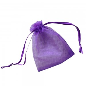 Purple Drawstring Organza Bag for Gift Packaging (3 inches x 4.5 inches) [1,400 Bags/Lot]