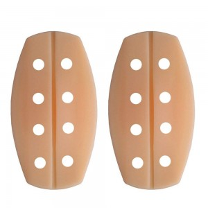 Beige Silica Gel Non-Slip Breathable Bra Strap Cushion (100 Bra Strap Cushions/Lot)