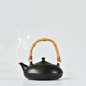 Black Stoneware Simple Brew Loose Leaf Tea Maker in 17.5oz/500ml - 10/Lot (15.2 x 16 cm/5.75 x 6.25 Inches)