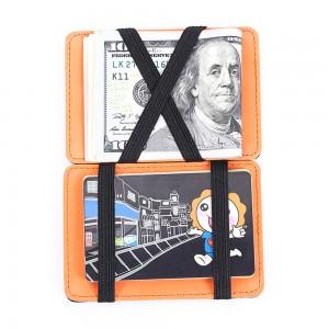 "Unconventional Premium Polyurethane Leather Minimalist Wallet Orange 3.75"" x 2.75"""