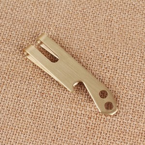 "Minimalist Gold Stainless Steel Multitool Flathead Screwdriver Money Clip Card Holder 7.6cm x 1.9cm(3""x0.75"")[200pcs/Lot]"