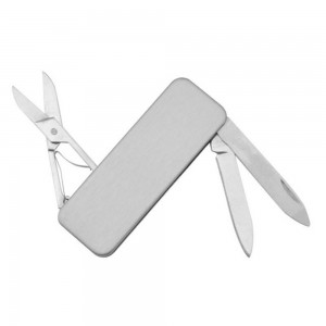 "Slim Portable Stainless Steel Multitool Knife Scissors Filer Money Clip Wallet ([Silver], [5.9cm(2.25"")]) [100pcs/Lot]"