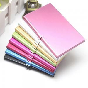 "Stylish Slim Colorful Stainless Steel Card Holder 9.3cm x 5.8cm(3.5""x2.25"") [180pcs/Lot]"